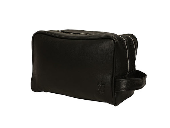 Genuine Leather Travel Dopp Kit Organizer