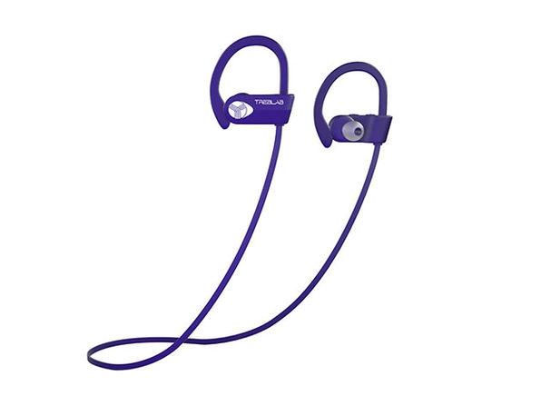 Treblab Xr500 Wireless Sports Earbuds Purple Mactrast