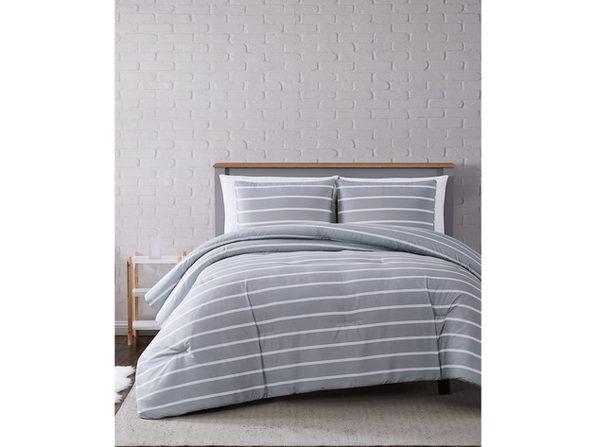 Truly Soft Maddow Stripe Twin/Twin XL Comforter Set Grey