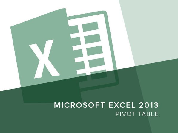 Excel 2013 - Pivot Table - Product Image