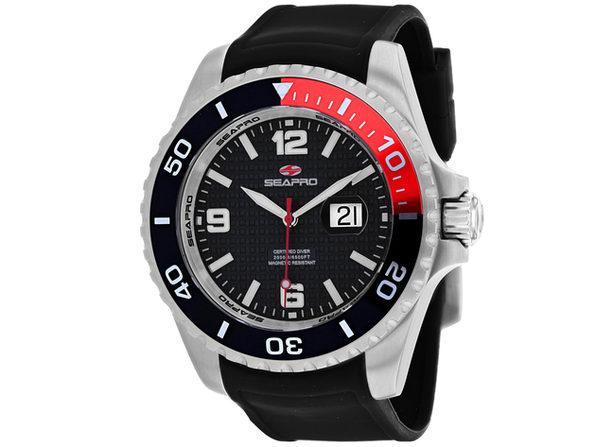 Seapro Men's Abyss 2000M Diver Watch Black Dial Watch - SP0740