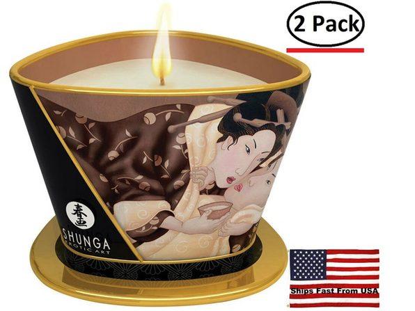 ( 2 Pack ) Massage Candle - Excitation - Intoxicating  Chocolate - 5.7 Oz. - Product Image