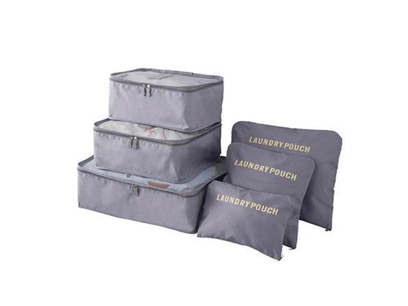 Packing Cubes: 6-Pc Travel Luggage Organizer Case Bags