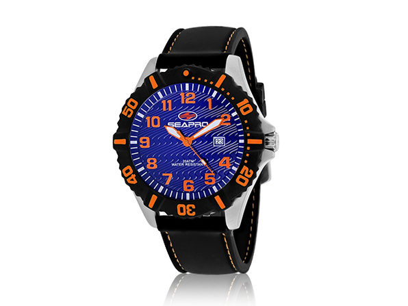 Seapro Men's Trooper Watch Blue/Black/Orange - Product Image