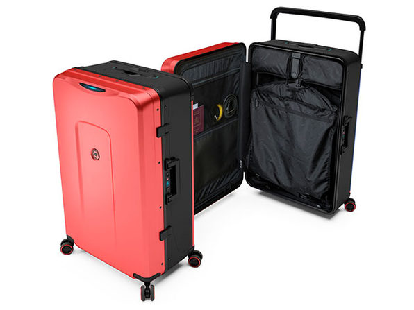 Plevo: Up - World's First Vertical Luggage (Red)