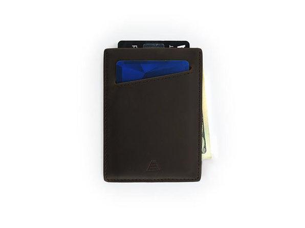 The Duke: Slim Leather Wallet (Dark Brown)