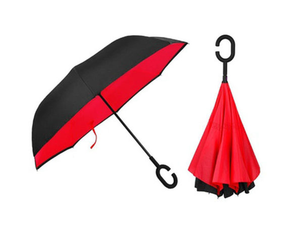 SwissTek Double Layer Smart Umbrella: 2-Pack (Red) - Product Image