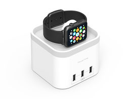PowerTime Apple Watch Charging Dock with 3 USB Ports