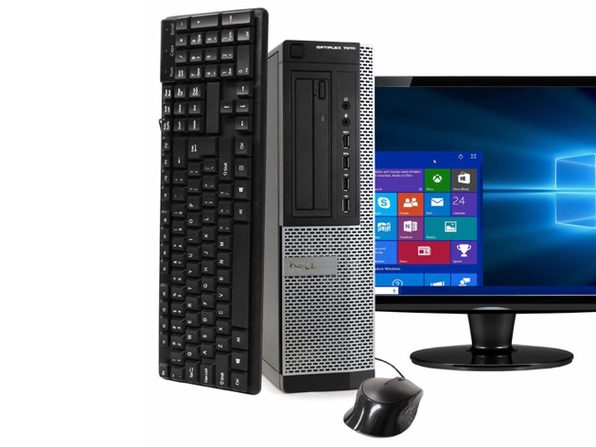 "Dell Optiplex 7010 Desktop PC, 3.2GHz Intel i5 Quad Core Gen 3, 8GB RAM, 240GB SSD, Windows 10 Home 64 bit, 22"" Screen (Renewed)"