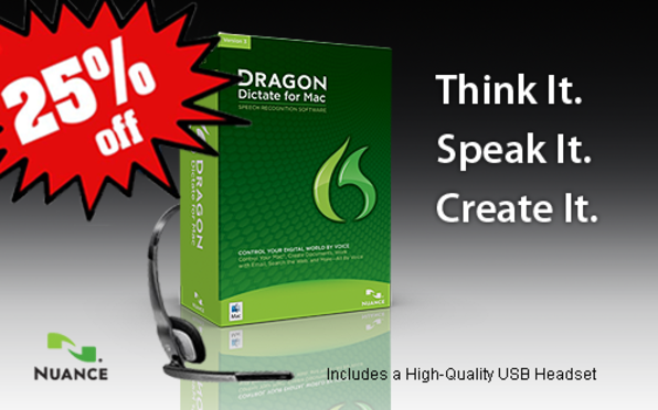 Dragon Dictate For Mac 3 (Physical Version) - Product Image