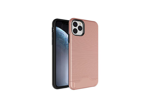 iPhone 11 Pro Case with Hidden Credit Card Slot (Rose Gold)
