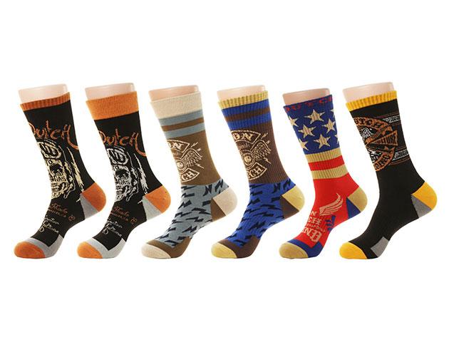 Von Dutch Assorted Men S Socks 6 Pairs Joyus