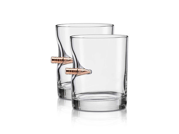 "BenShot ""Bulletproof"" Rocks Glass Gift Set"