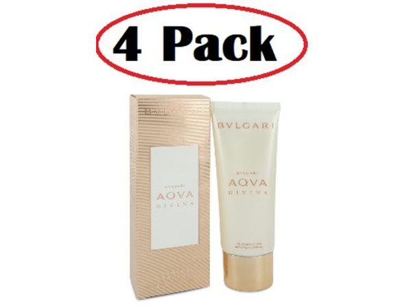 4 Pack of Bvlgari Aqua Divina by Bvlgari Shower Gel 3.4 oz - Product Image