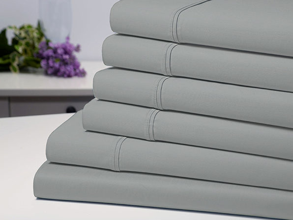 Bamboo Comfort 6-Piece Luxury Silver Sheet Set (Queen)