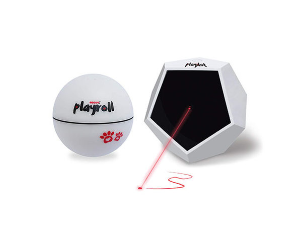 Playdot Laser Toy + Playroll Self-Spinning Ball Bundle