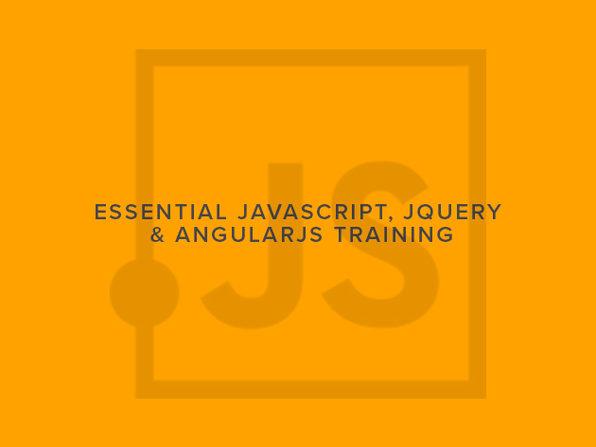 Essential JavaScript, jQuery & AngularJS Training - Product Image