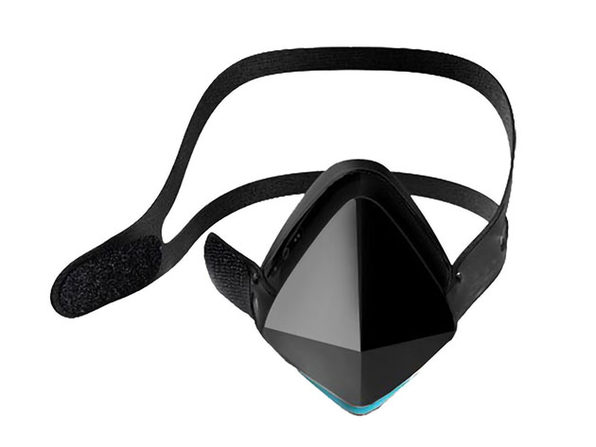 Electric Respirator LED Fan Mask (Black/2-Pack)