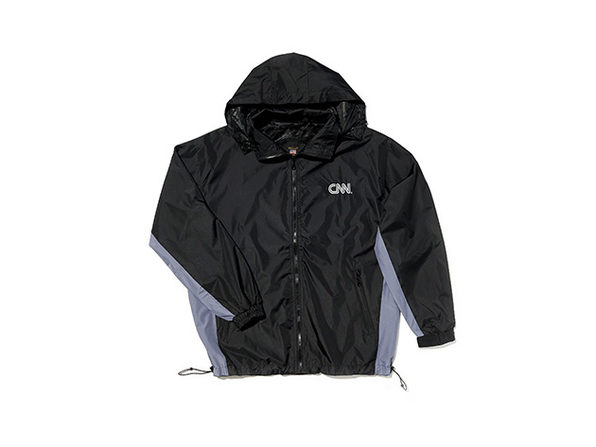 CNN 2 Tone Windbreaker (Black/Dark Gray)