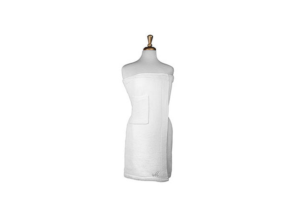 Parise Cotton Terry Bath Wrap (White)
