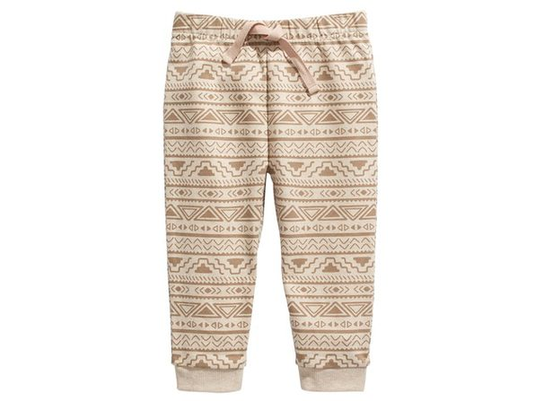 First Impressions Toddler Boys Geo-Print Jogger Pants Beige Size 24 Months