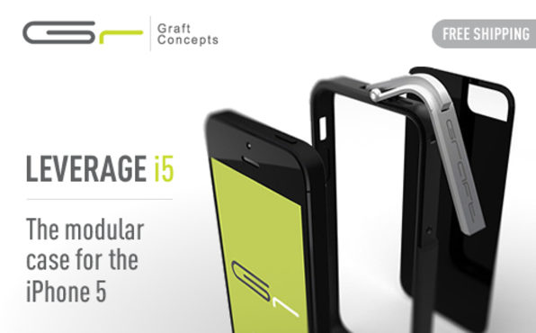 Leverage for iPhone 5 (Black/Matte) - Product Image