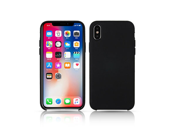 iPM Silicone iPhone X Series Case (iPhone XS/Black)