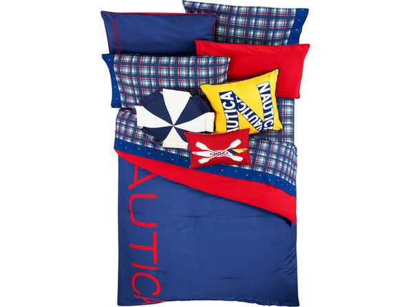 Nautica Kids Reversible Colorblock 100% Fine Imported Cotton Comforter Set - Twin