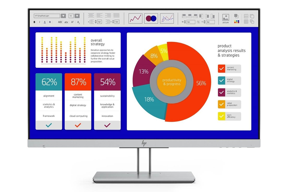 An HP monitor