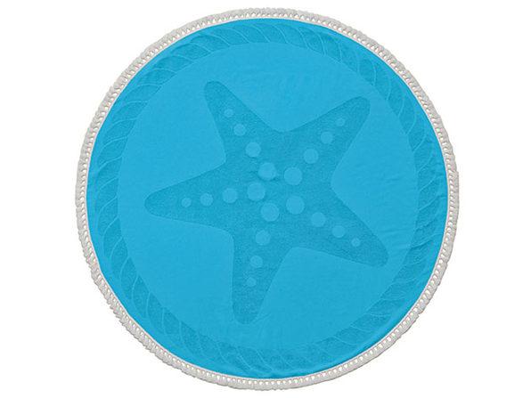 Starfish Round Cotton Turkish Beach Towel - Product Image