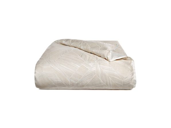 Hotel Collection Alabastar Geometric Pattern King 110 Inches x 96 Inches Duvet Cover, White