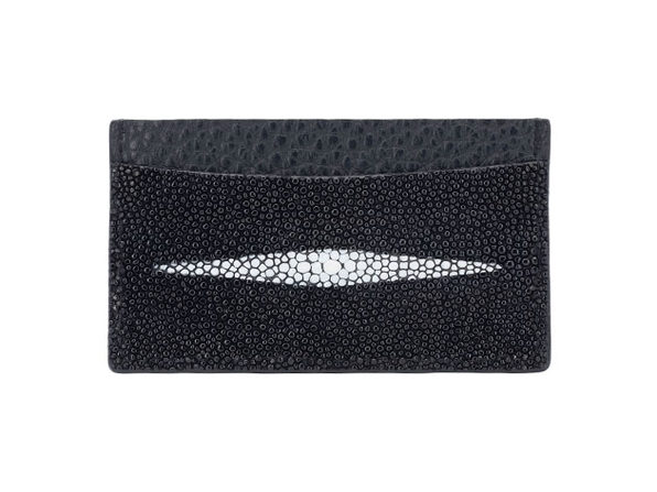 Andre Giroud exotic stingray card holder - black - Product Image