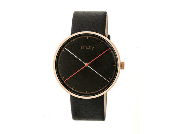 Simplify 4100 Unisex Watch (Black/Rose Gold)