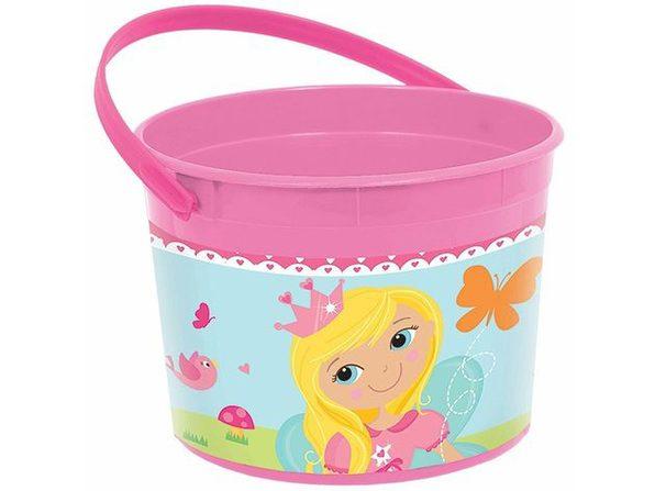 Woodland Princess Plastic Favor Bucket Container ( 1pc )