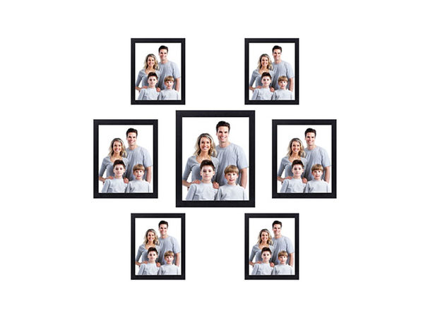 Nuvita 7-Piece Black Photo Frame Wall Gallery Kit