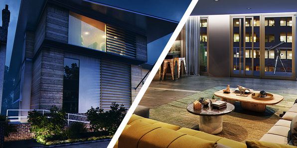 3Ds Max + VRay: Interior & Exterior Night Rendering - Product Image