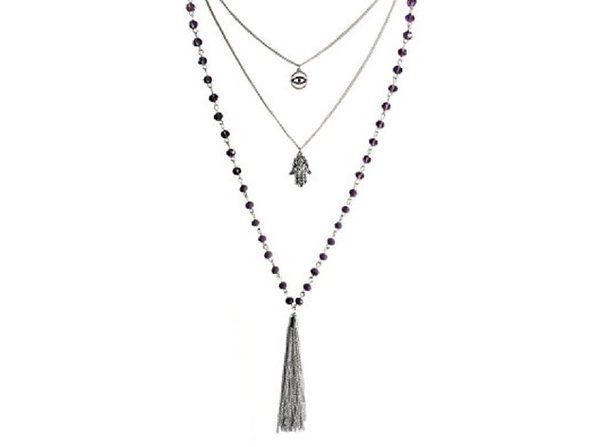 Inspired Life Women's 26-in Silver-Tone Multi-Layer Tassel Pendant Necklace