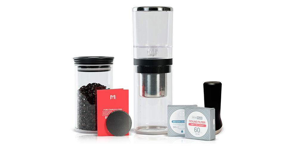 BeanPlus Cold Drip Brewer Premium Kit, now on sale for $89.99 when you use the coupon code COFFELOVE10 at checkout