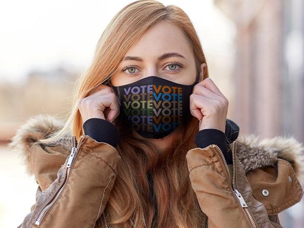 VOTE Masks (White/5-Pack)