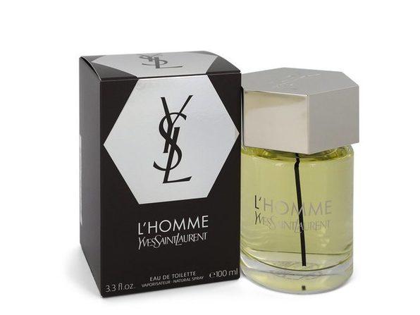 3 Pack L'homme by Yves Saint Laurent Eau De Toilette Spray 3.4 oz for Men - Product Image