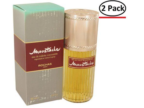 MOUSTACHE by Rochas Eau De Toilette Concentree Spray (Damaged Box) 3.4 oz for Men (Package of 2) - Product Image