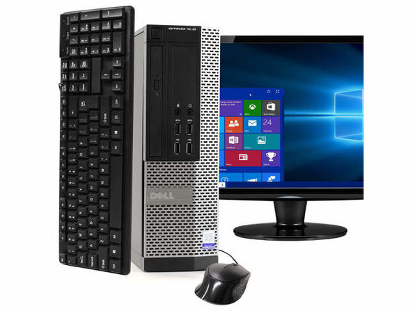 """Dell OptiPlex 7020 Desktop PC, 3.2GHz Intel i5 Quad Core Gen 4, 8GB RAM, 120GB SSD, Windows 10 Professional 64 bit, 22"""" Widescreen Screen (Renewed)"""