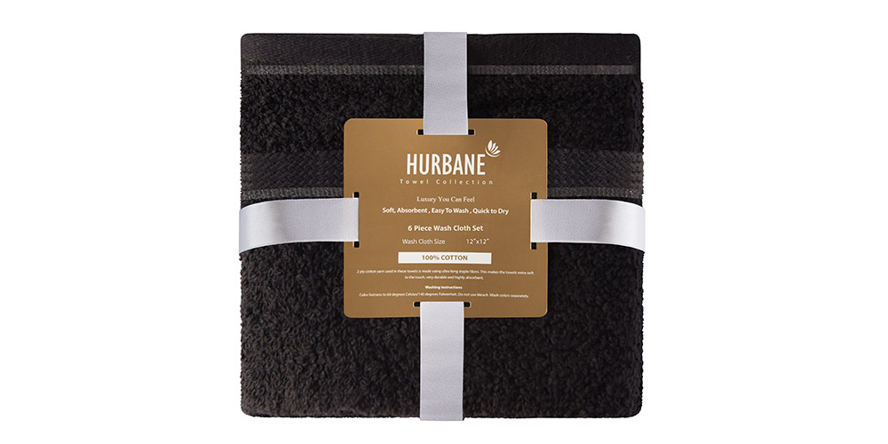 These towels are made from 900GSM cotton and are super quick-drying and durable, so they'll last you for years. Plus, they're very absorbent so you can dry your hands or face quickly. Their soft feel will make any powder room feel like a spa.
