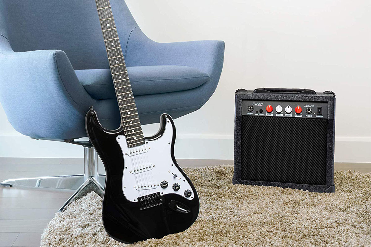 LyxPro 39″ Electric Guitar with 20W Amp Kit