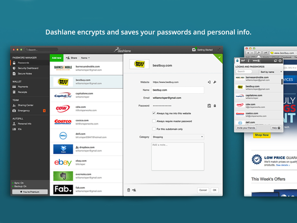 Dashlane Premium: The World's Best Password Manager