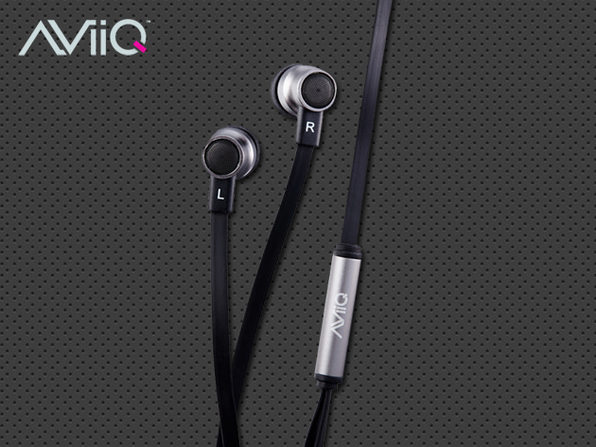 AViiQ In-Ear Headphones + Mic (Black) - Product Image