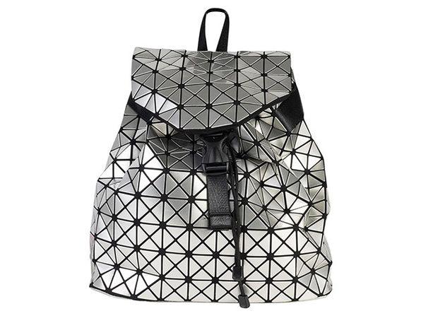 Geo Shaped Backpack (Silver)