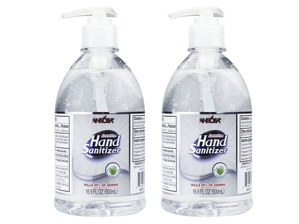 Advance Sanitizer Pump Bottle 16.9 oz / 500 ml Alcohol Free - Made In USA:2-pack - Product Image