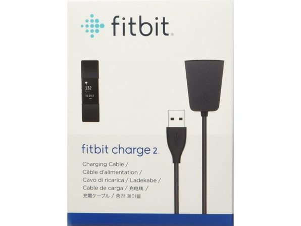 Fitbit USB Charging Cable for Flex 2 Activity Tracker, Plugs Into Any USB Port, Black