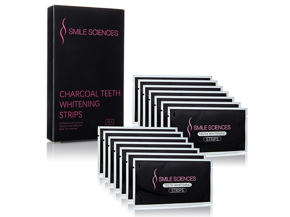 Smile Sciences Gel Infused Charcoal Whitening Strips (14-Pack)